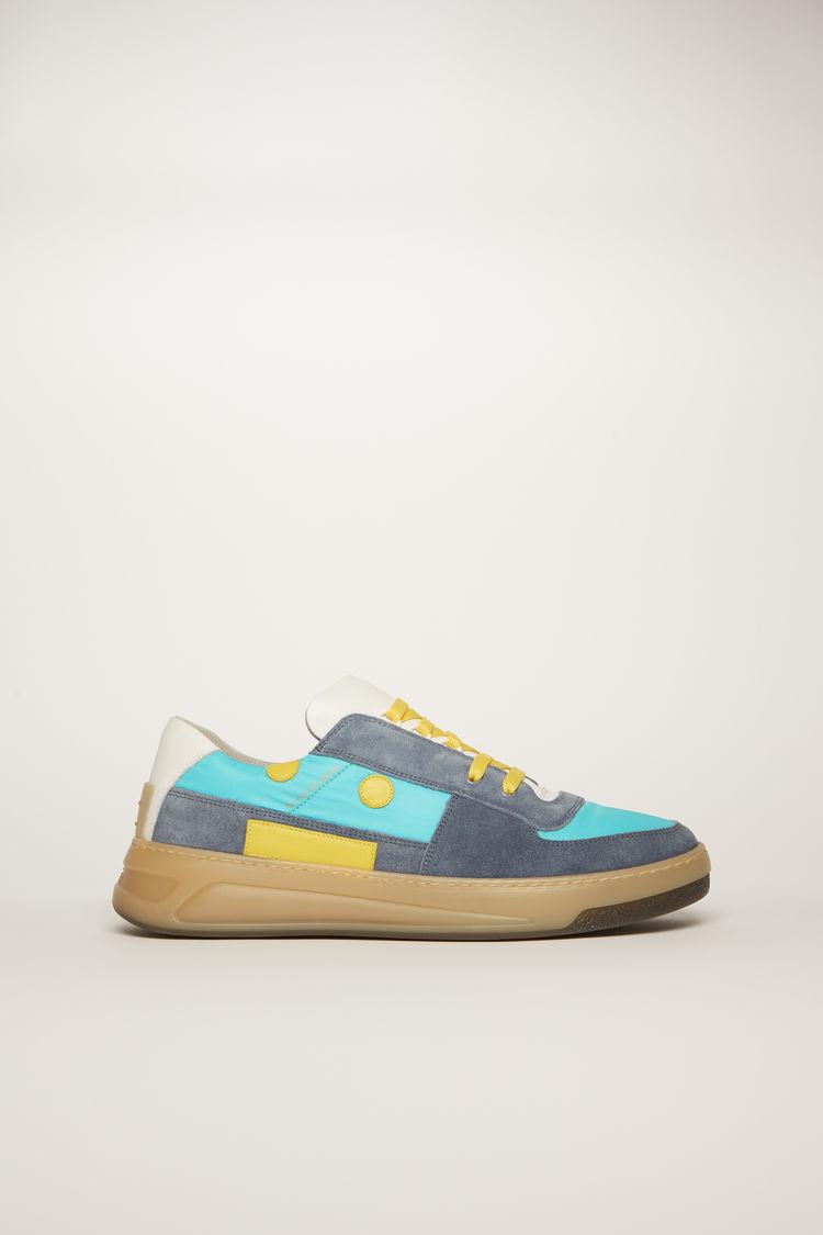 아크네 스튜디오 Acne Studios Lace-up sneakers blue/turquoise/beige