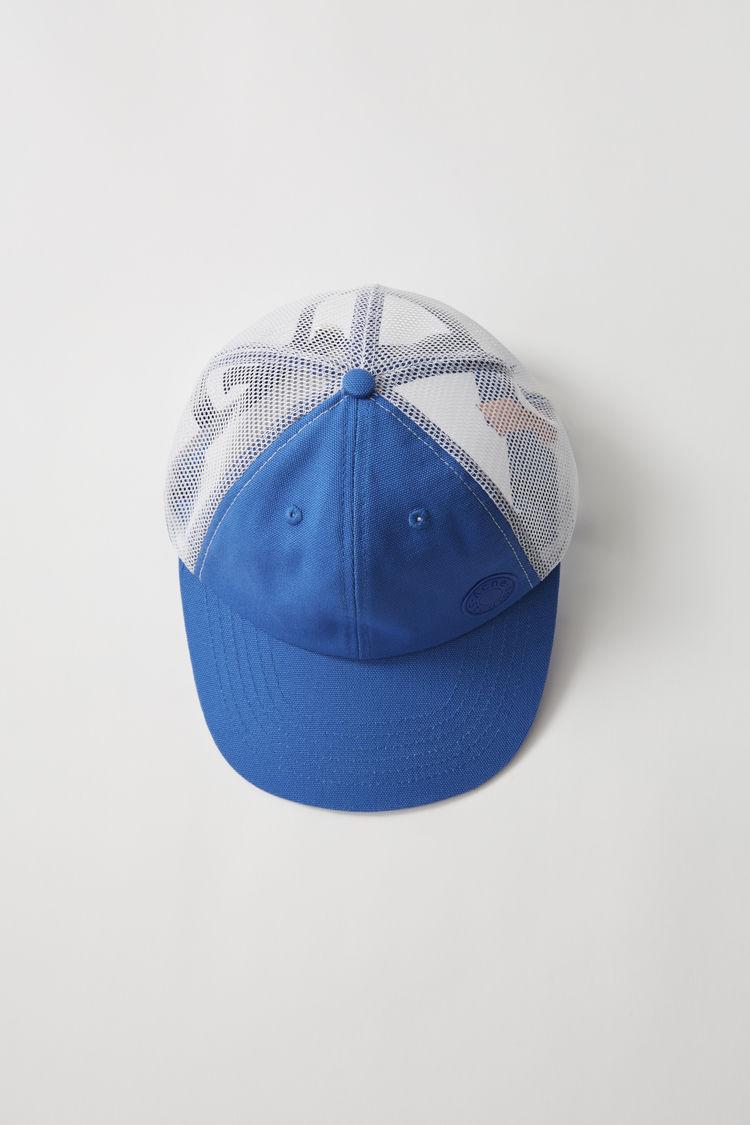 아크네 스튜디오 Acne Studios Cotton and mesh baseball cap ocean blue