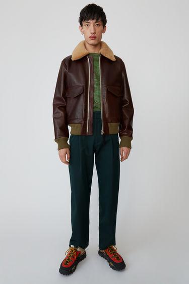 아크네 스튜디오 Acne Studios Leather jacket cognac brown