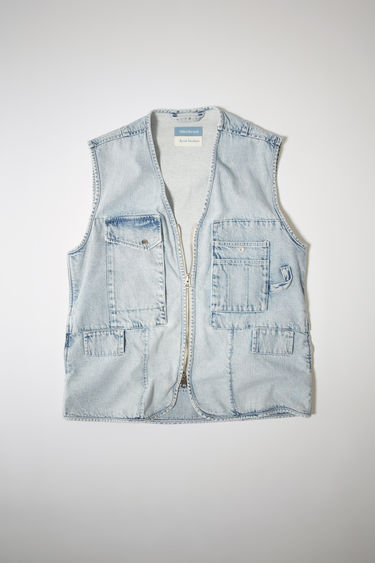 아크네 스튜디오 Acne Studios Denim utility vest light blue