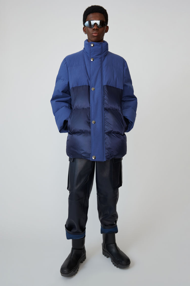 아크네 스튜디오 Acne Studios Contrast-panel padded coat ink blue,Ink blue
