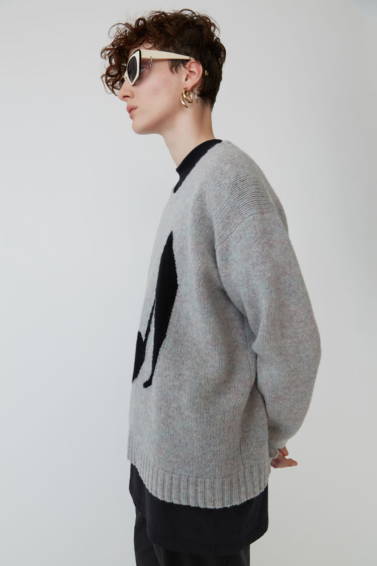 Acne Studios - Music note sweater Lilac mel/black - 4