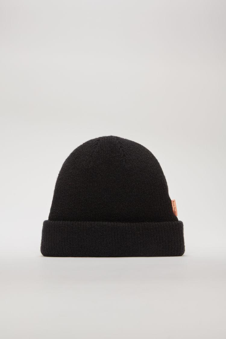 아크네 스튜디오 Acne Studios Ribbed wool beanie black