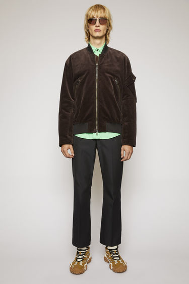 아크네 스튜디오 Acne Studios Corduroy bomber jacket coffee brown