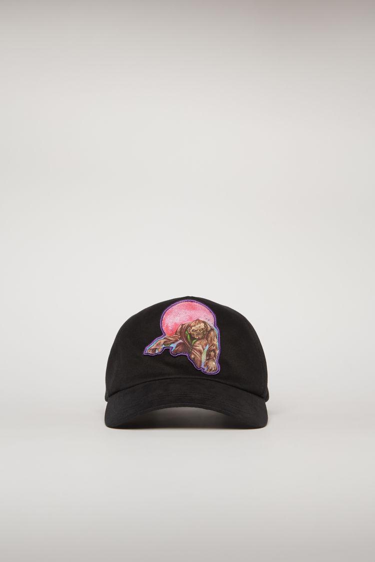 아크네 스튜디오 Acne Studios Monster-print cap black/pink