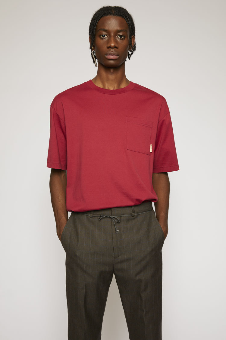 아크네 스튜디오 Acne Studios Boxy fit t-shirt burgundy