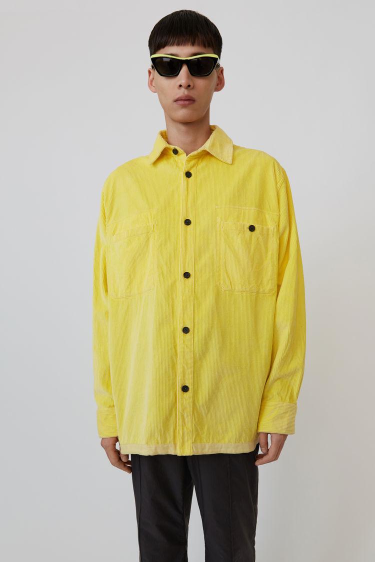 Acne Studios - Corduroy shirt Light yellow - 1