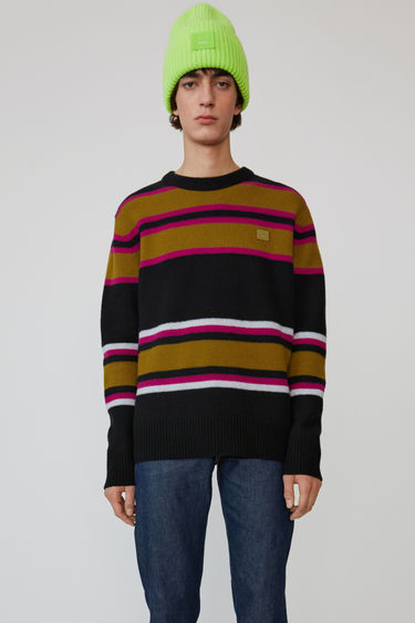 아크네 스튜디오 Acne Studios Striped sweater black multicolor