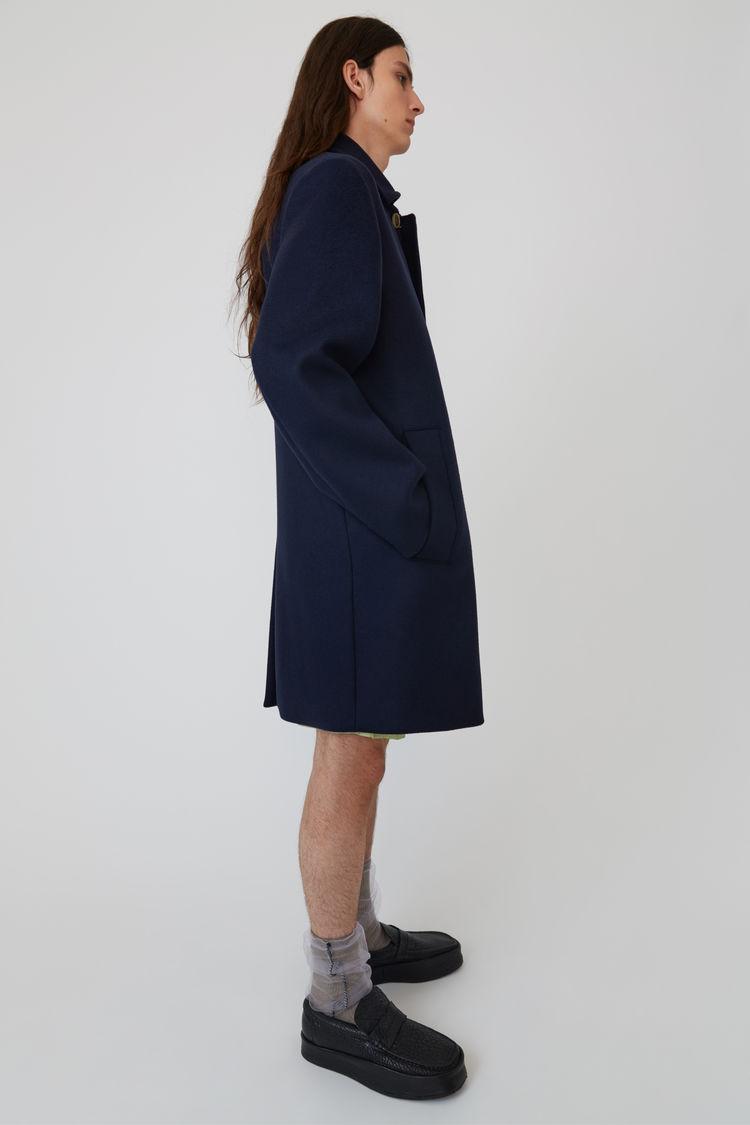 Acne Studios - Wool coat Navy blue - 4