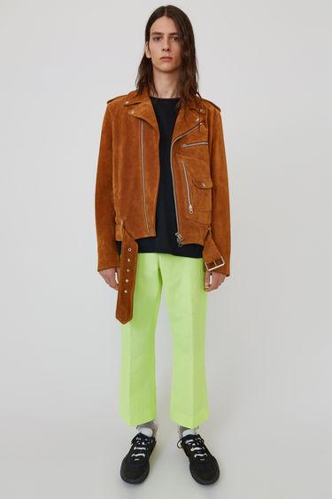 아크네 스튜디오 Acne Studios Suede motorcycle jacket tobacco brown