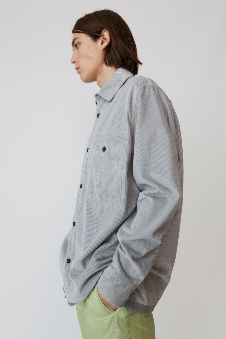 Acne Studios - Corduroy shirt Light grey - 4