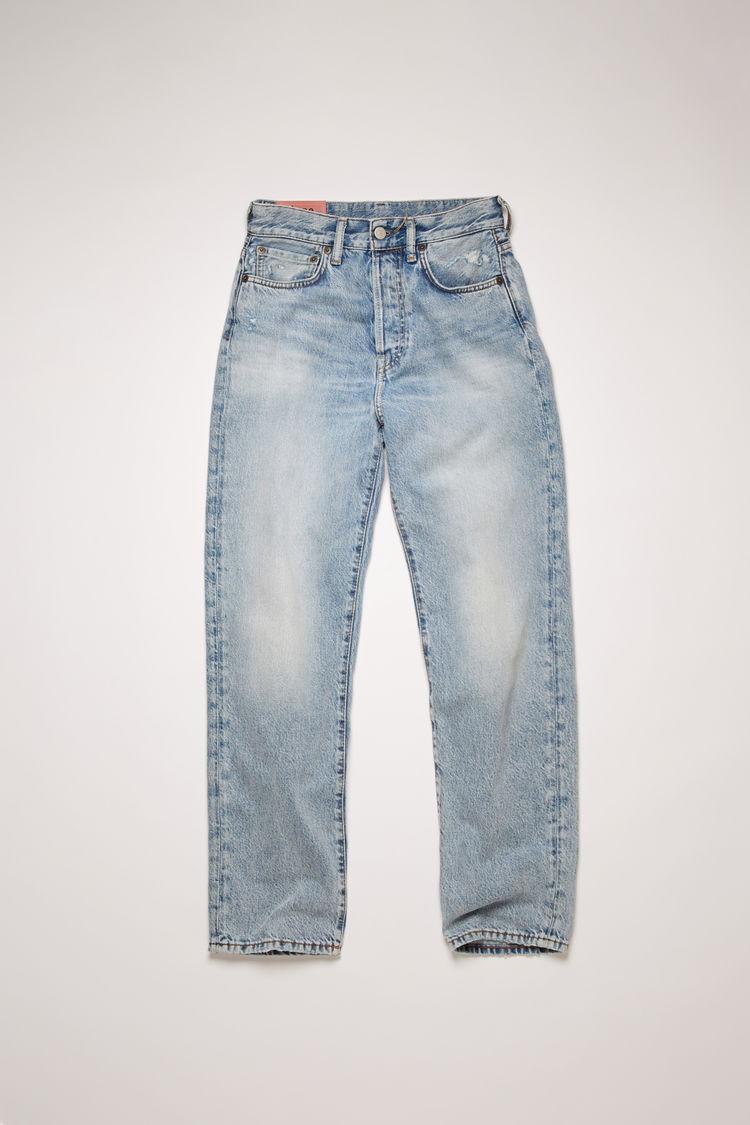 아크네 스튜디오 Acne Studios Cropped straight fit jeans light blue