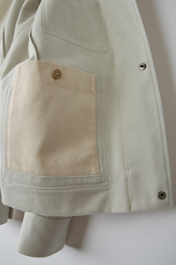 Acne Studios - Cotton jacket Cold white - 6