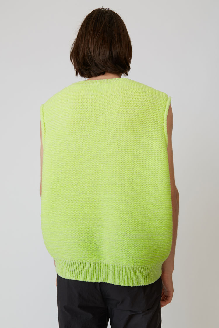 Acne Studios - Sweater vest Fluo yellow - 3