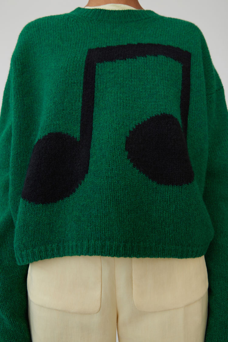Acne Studios - Music note sweater Green/black - 5