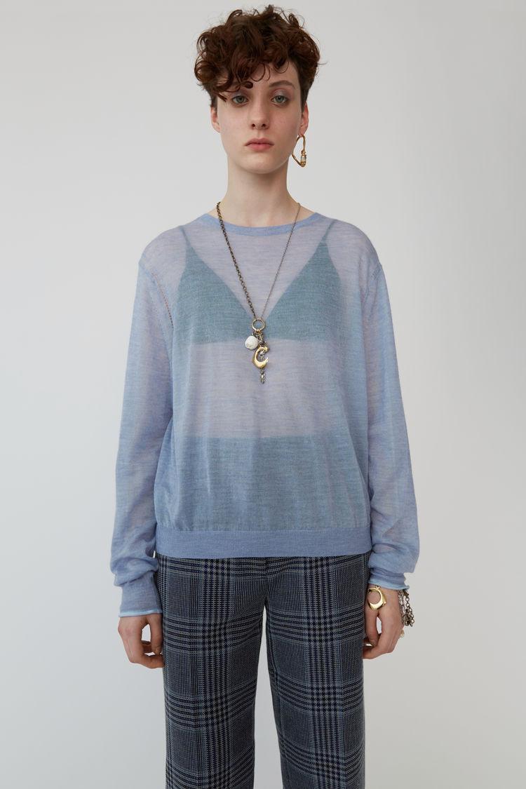 아크네 스튜디오 니트 Acne Studios Mohair knit light blue