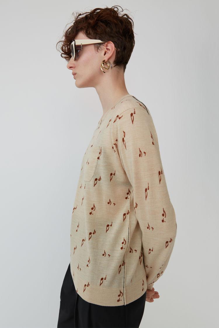 Acne Studios - Patterned sweater Beige melange - 4