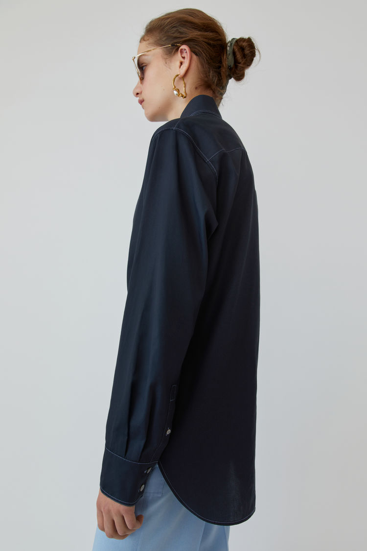 Acne Studios - Long-sleeved shirt Navy blue - 4