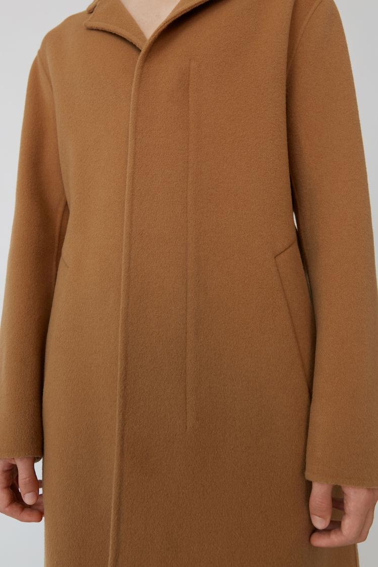 Acne Studios - Funnel neck coat Camel brown - 5