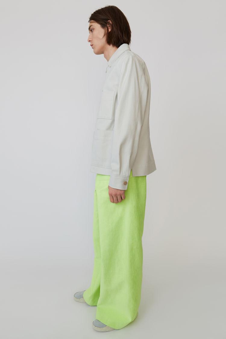 Acne Studios - Cotton jacket Cold white - 4