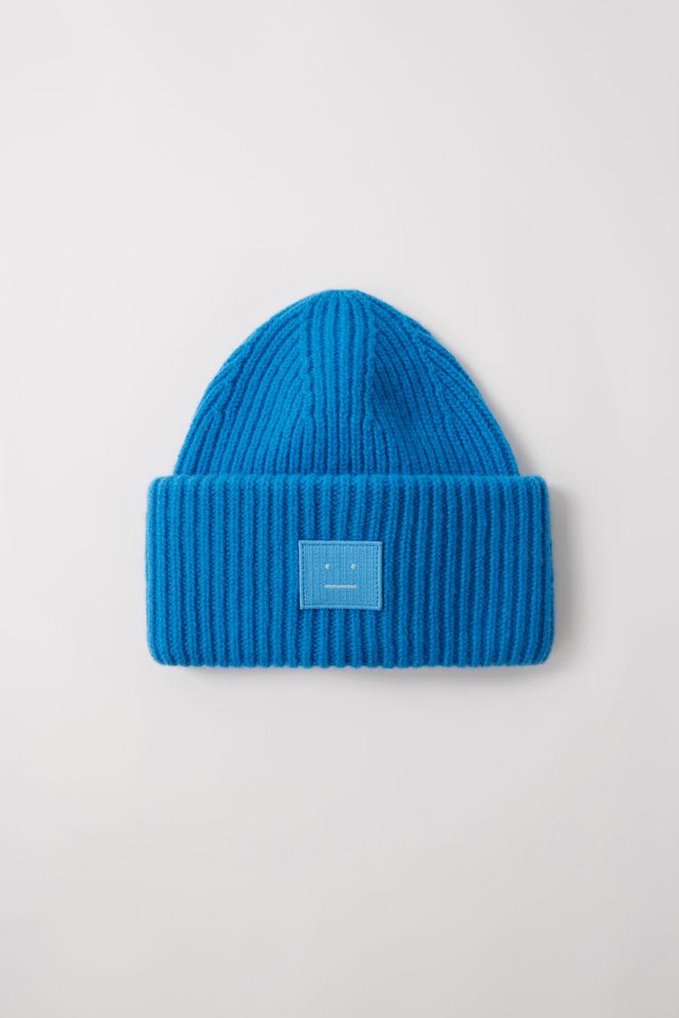 아크네 스튜디오 Acne Studios Ribbed beanie hat aqua blue