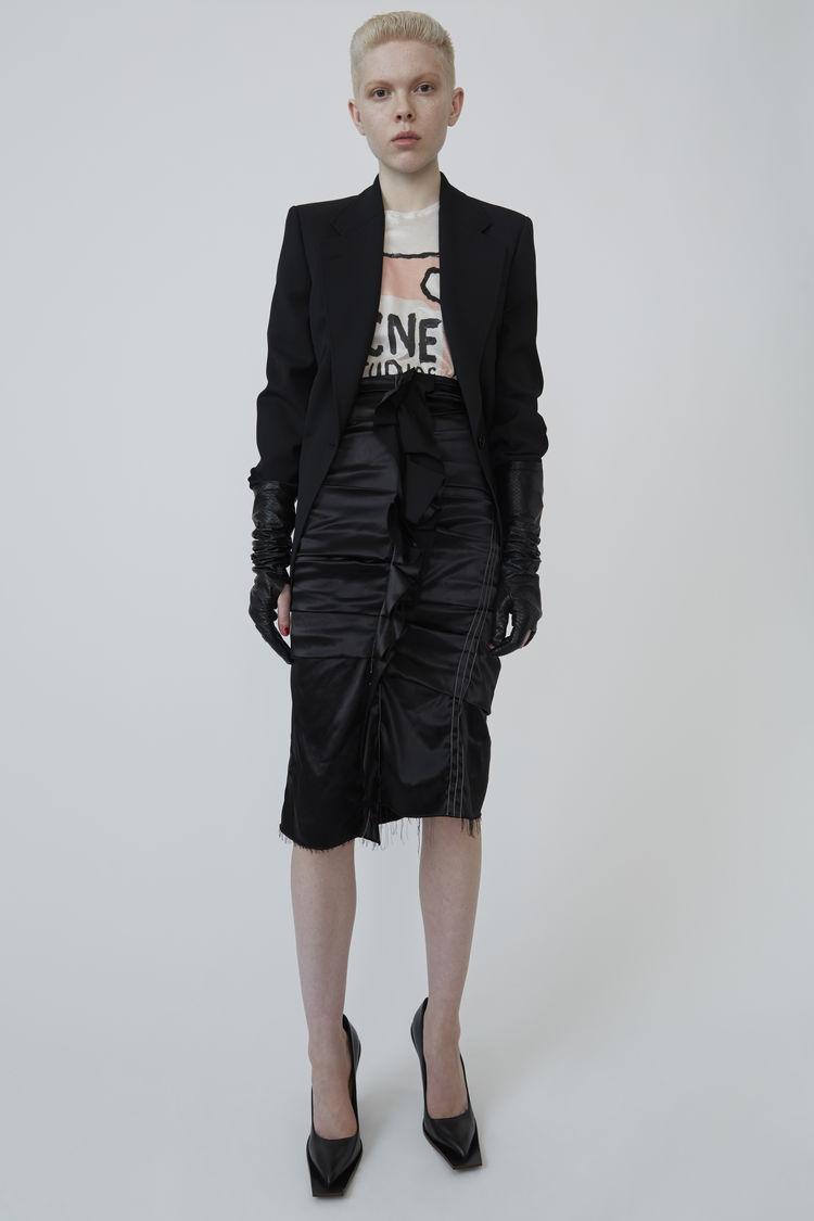 아크네 스튜디오 Acne Studios Ruffled satin skirt black