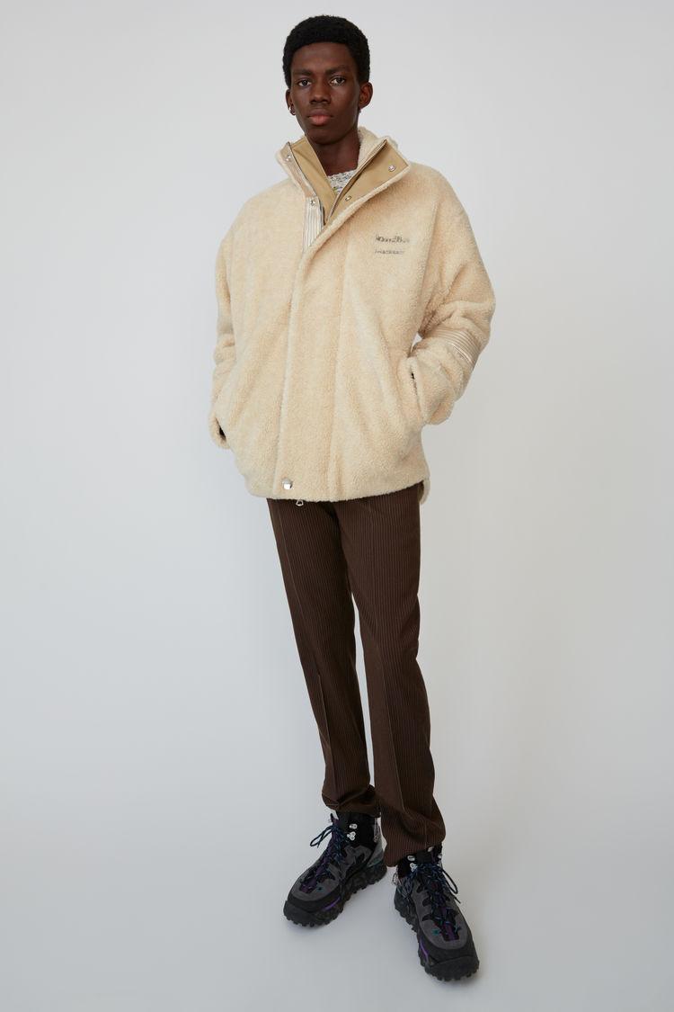 아크네 스튜디오 Acne Studios Oversized fleece jacket ecru beige
