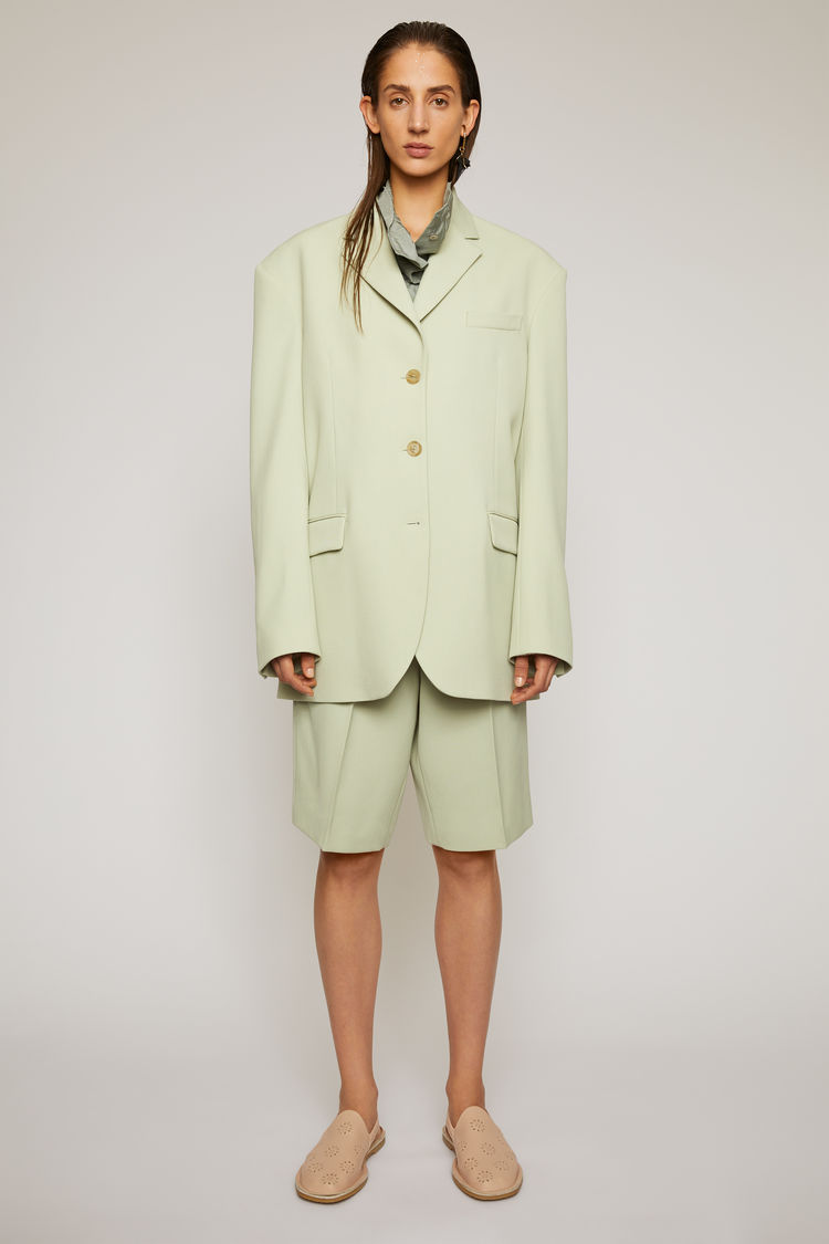 아크네 스튜디오 Acne Studios Single-breasted suit jacket pastel green