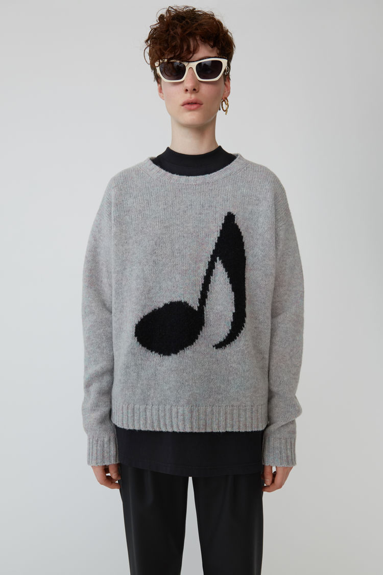 Acne Studios - Music note sweater Lilac mel/black - 1