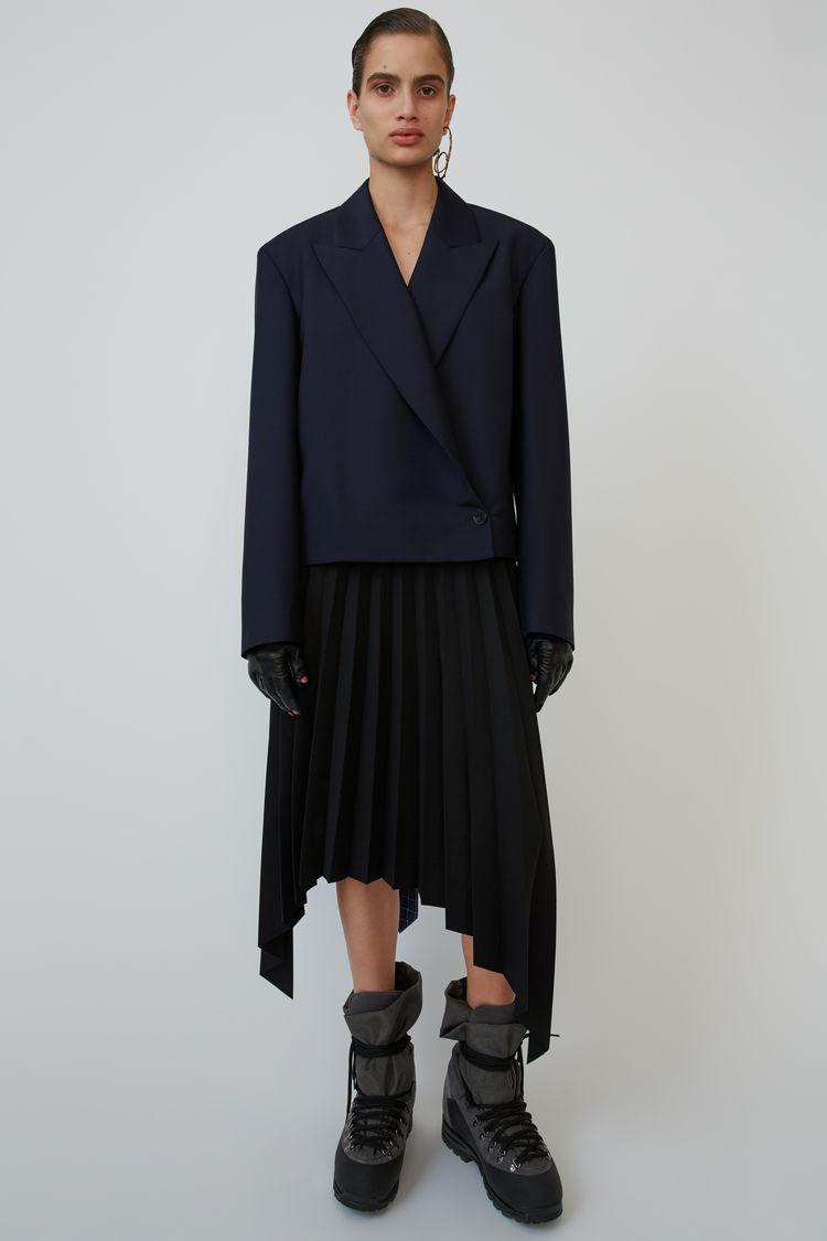아크네 스튜디오 Acne Studios Asymmetrical skirt black