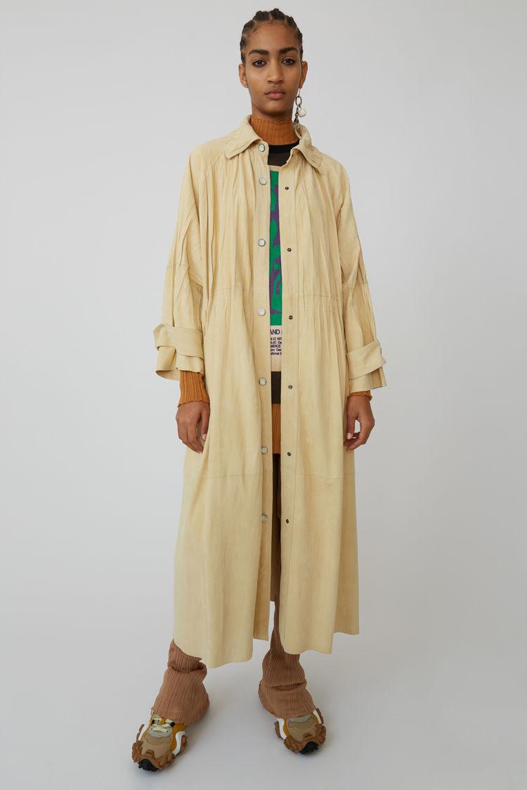 아크네 스튜디오 코트 Acne Studios Leather coat vanilla yellow