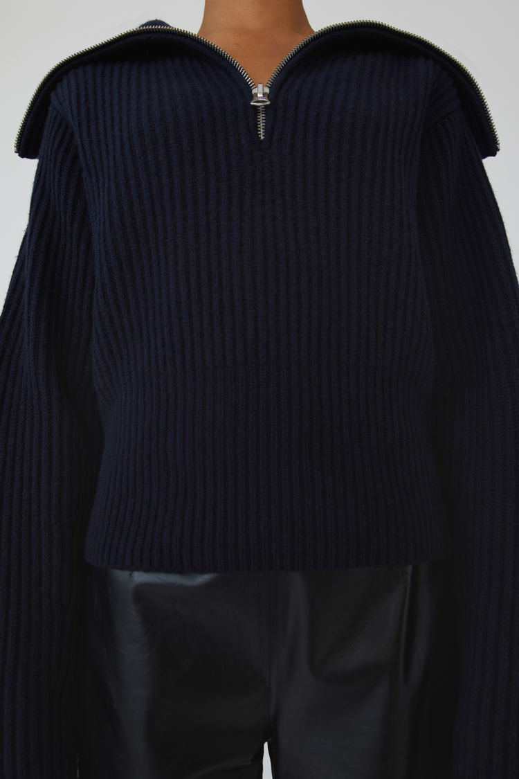 Acne Studios - Ribbed sweater Dark navy - 5