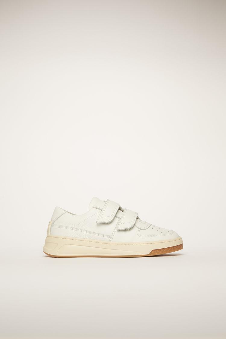 아크네 스튜디오 보이즈 벨크로 스트랩 스니커즈 미니 Acne Studios Mini velcro-strap sneakers white
