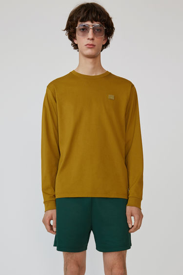 아크네 스튜디오 크루넥 티셔츠 Acne Studios Long sleeve crew neck moss green