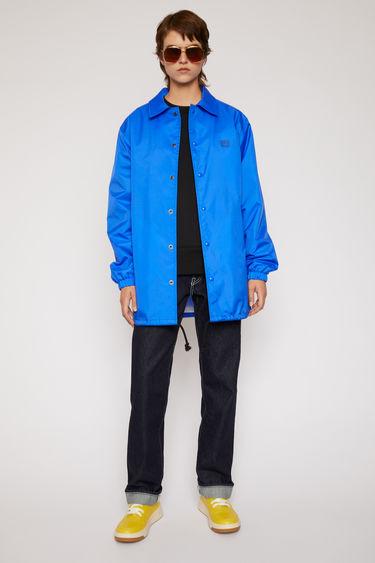 아크네 스튜디오 Acne Studios Face-print coach jacket electric blue