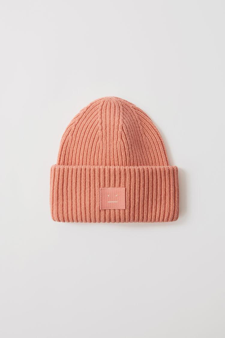 아크네 스튜디오 Acne Studios Ribbed beanie hat pale pink