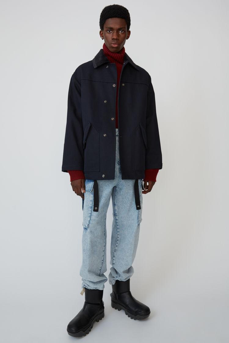 아크네 스튜디오 Acne Studios Cotton-twill jacket navy/navy,Navy/navy