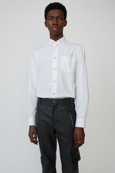 아크네 스튜디오 Acne Studios Classic fit shirt optic white