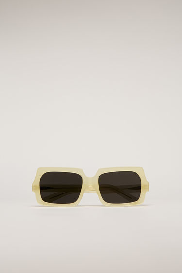 아크네 스튜디오 스퀘어 선글라스 Acne Studios Square acetate sunglasses yellow/silver
