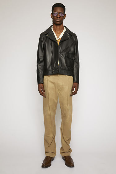 아크네 스튜디오 Acne Studios Leather biker jacket black