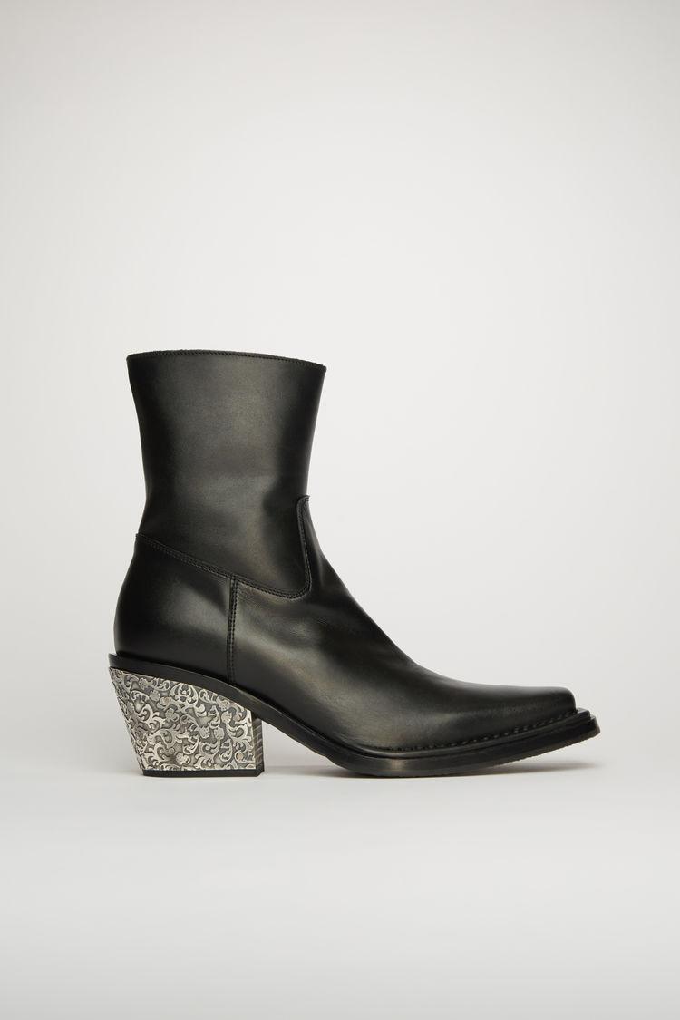 아크네 스튜디오 Acne Studios Leather cowboy boots black