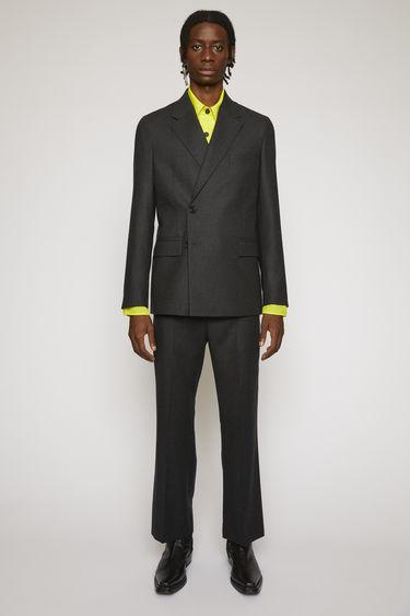 아크네 스튜디오 Acne Studios Double-breasted wool suit jacket grey melange