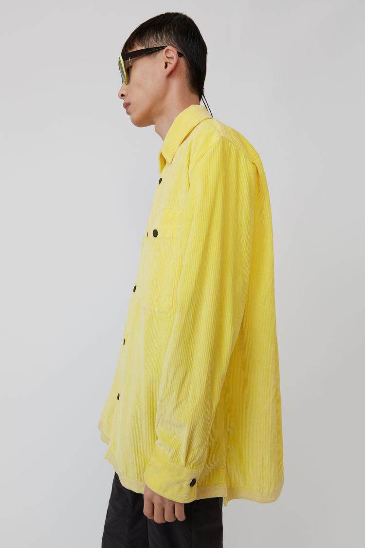 Acne Studios - Corduroy shirt Light yellow - 4
