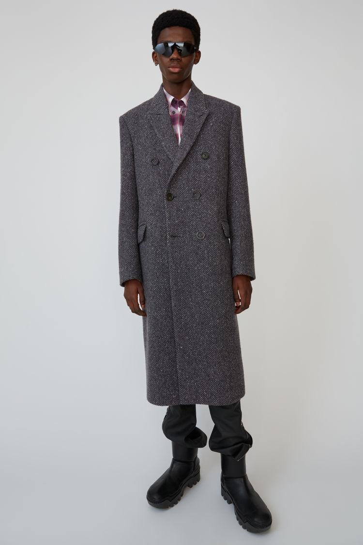 아크네 스튜디오 Acne Studios Double breasted coat grey/dark grey,Grey/dark grey