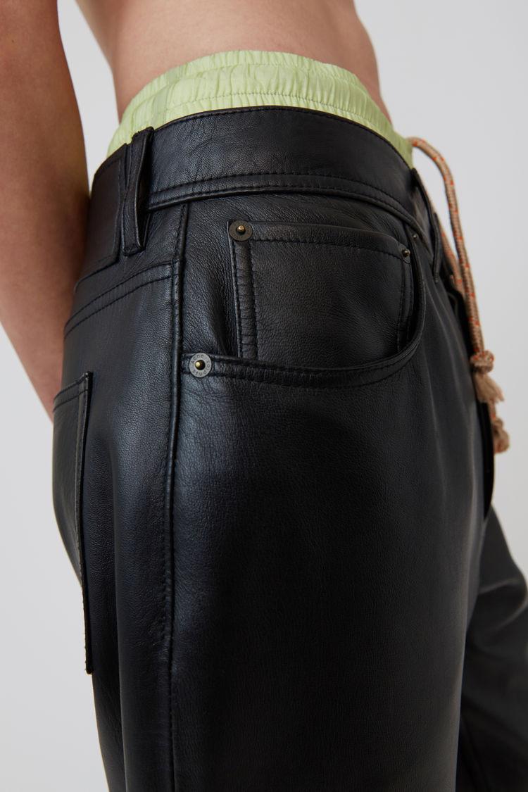Acne Studios - Leather pants Black - 5