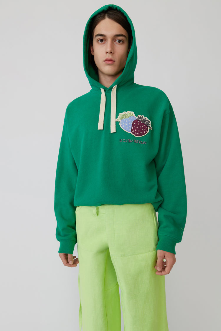 Acne Studios - Hooded sweatshirt Emerald green - 1