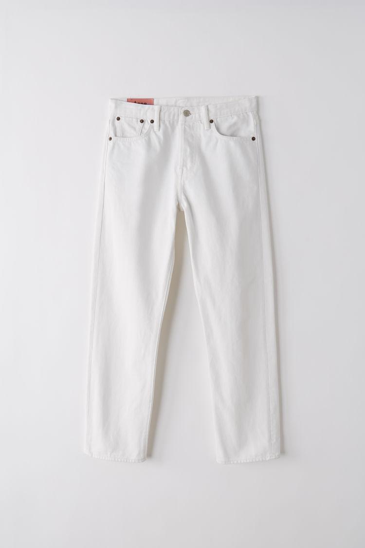 아크네 스튜디오 Acne Studios Straight fit jeans ivory white