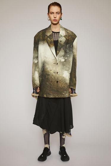 아크네 스튜디오 Acne Studios Landscape-painting suit jacket brown/white