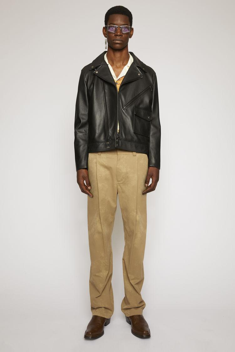 아크네 스튜디오 Acne Studios Leather biker jacket black