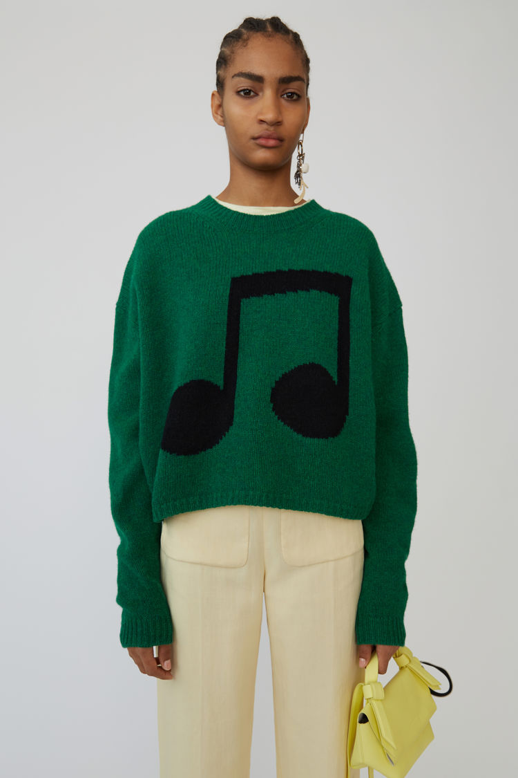 Acne Studios - Music note sweater Green/black - 1
